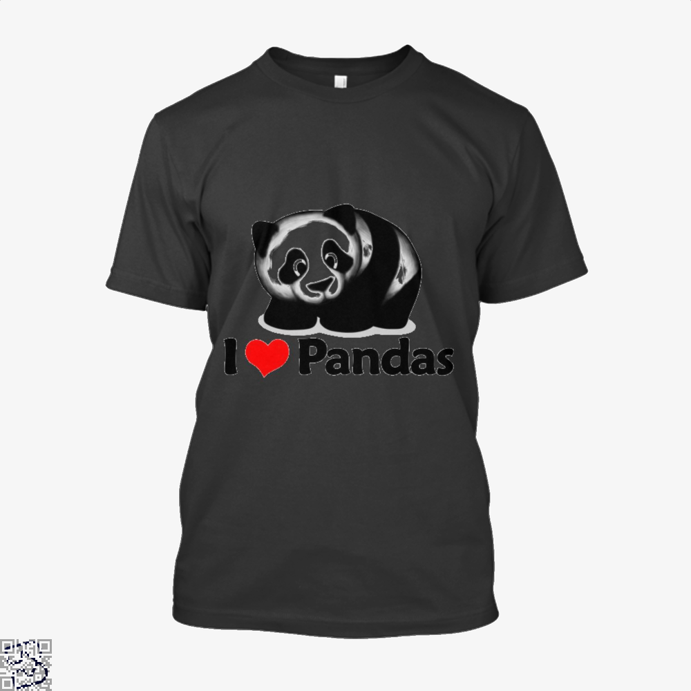 I Love Pandas Panda Shirt - Men / Black / X-Small - Productgenjpg
