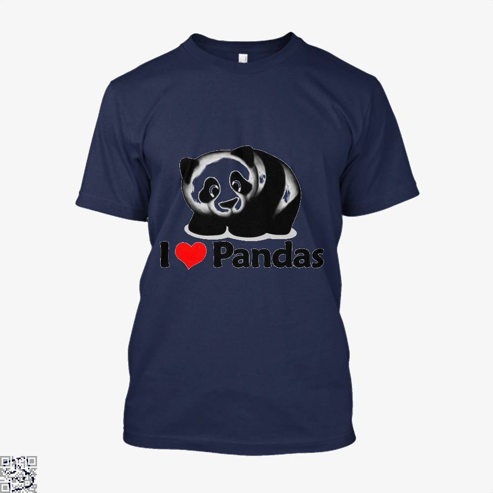 I Love Pandas Panda Shirt - Men / Blue / X-Small - Productgenjpg