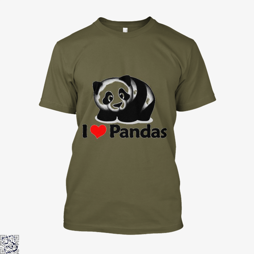 I Love Pandas Panda Shirt - Men / Brown / X-Small - Productgenjpg