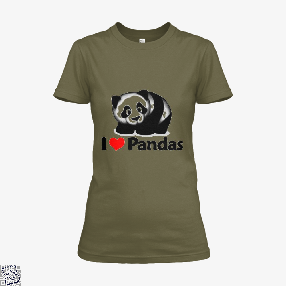 I Love Pandas Panda Shirt - Women / Brown / X-Small - Productgenjpg