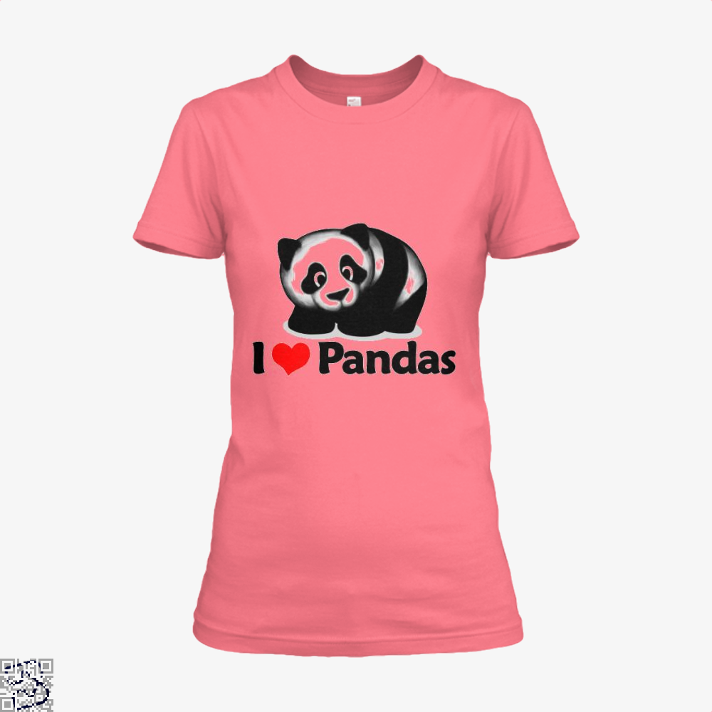 I Love Pandas Panda Shirt - Women / Pink / X-Small - Productgenjpg