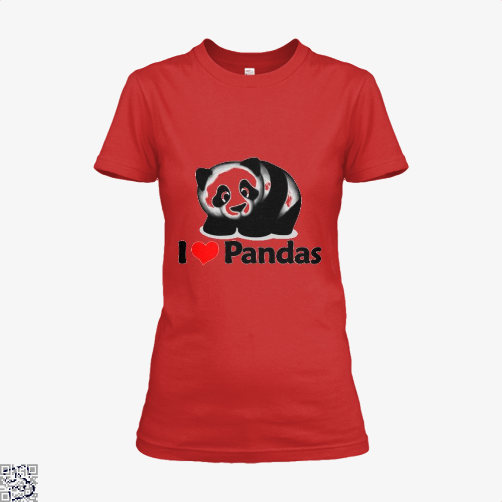 I Love Pandas Panda Shirt - Women / Red / X-Small - Productgenjpg
