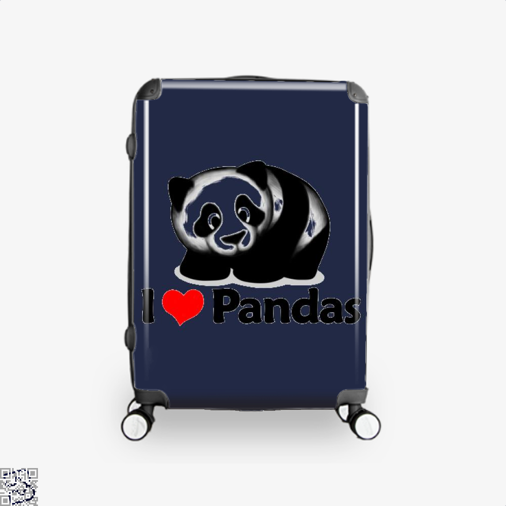 I Love Pandas Panda Suitcase - Blue / 16 - Productgenjpg