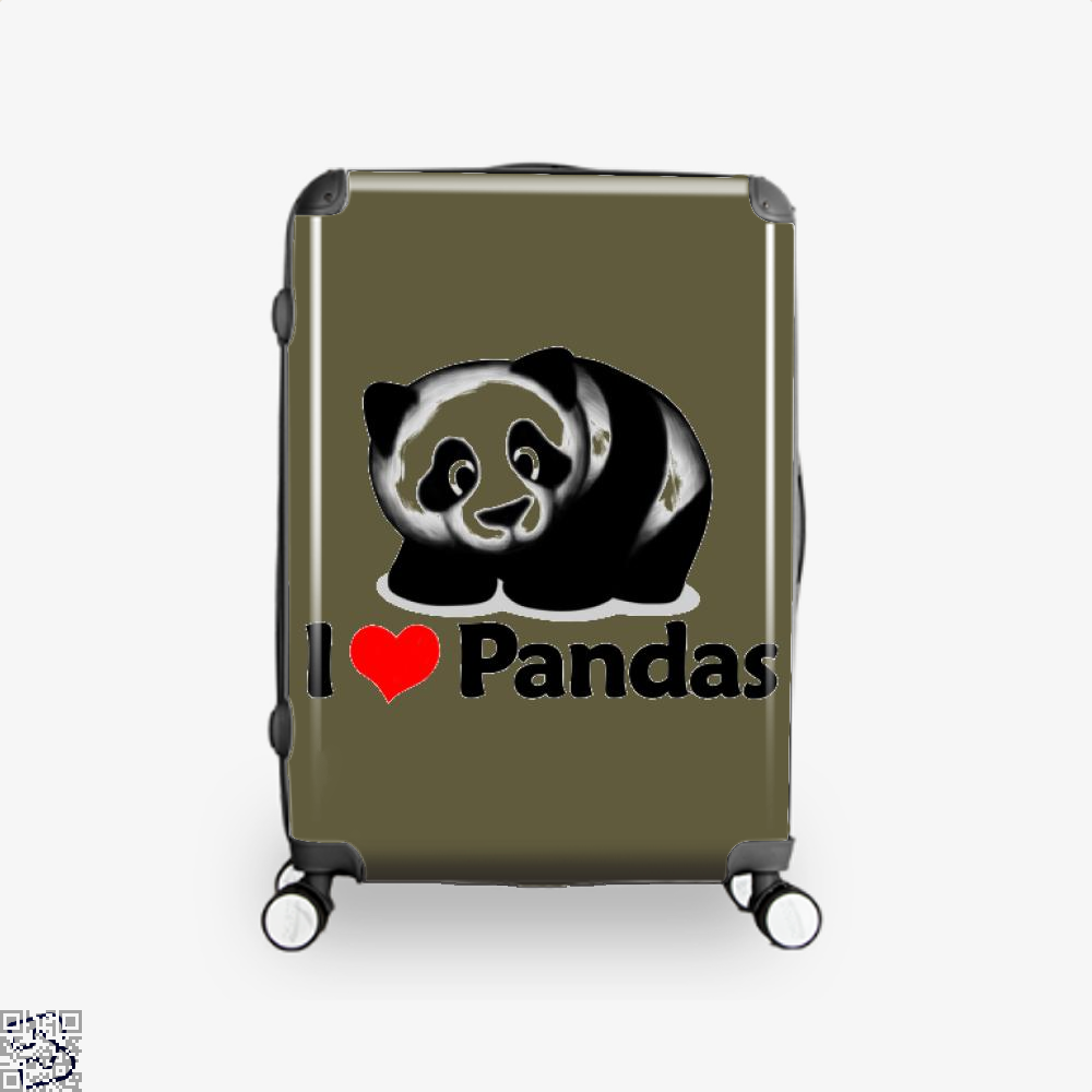I Love Pandas Panda Suitcase - Brown / 16 - Productgenjpg