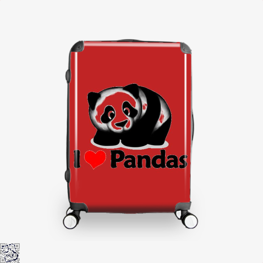 I Love Pandas Panda Suitcase - Red / 16 - Productgenjpg