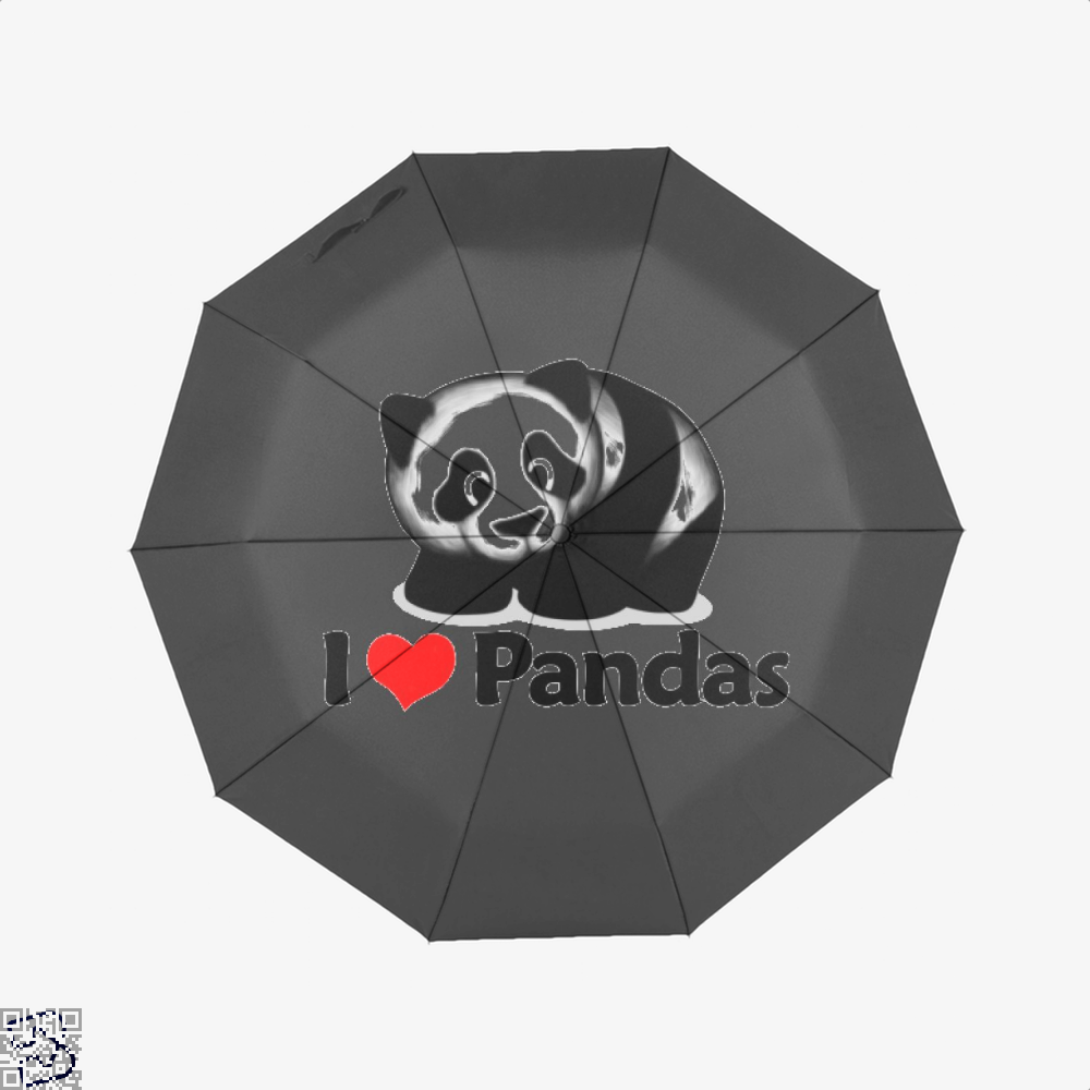 I Love Pandas Panda Umbrella - Black - Productgenjpg