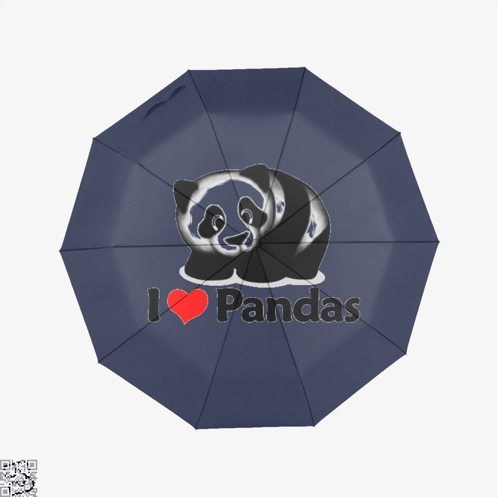 I Love Pandas Panda Umbrella - Blue - Productgenjpg