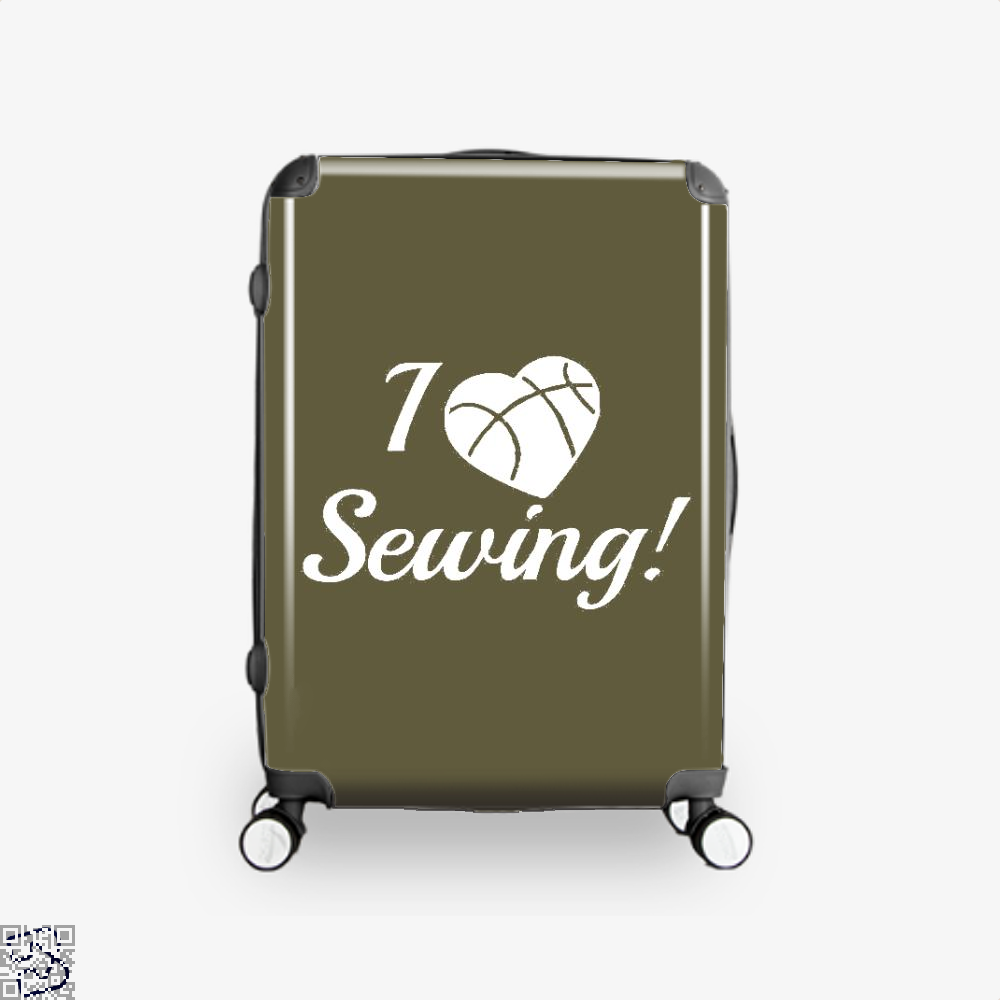 I Love Sewing Heart Crafts Yarn Suitcase - Brown / 16 - Productgenjpg