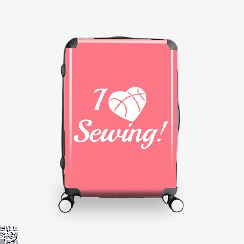 I Love Sewing Heart Crafts Yarn Suitcase - Pink / 16 - Productgenjpg