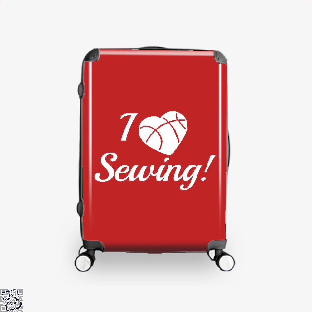I Love Sewing Heart Crafts Yarn Suitcase - Red / 16 - Productgenjpg