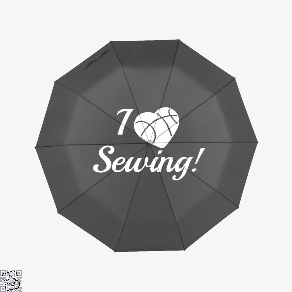 I Love Sewing Heart Crafts Yarn Umbrella - Black - Productgenjpg