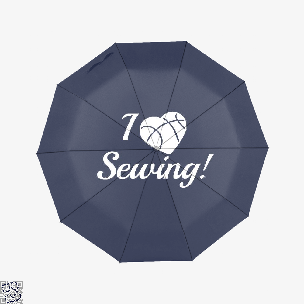 I Love Sewing Heart Crafts Yarn Umbrella - Blue - Productgenjpg