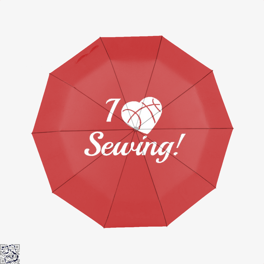 I Love Sewing Heart Crafts Yarn Umbrella - Red - Productgenjpg