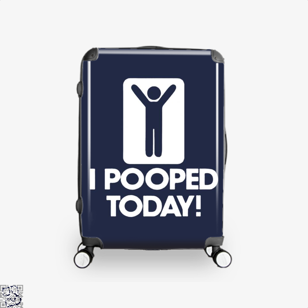 I Pooped Today! Hyperbolic Suitcase - Blue / 16 - Productgenjpg