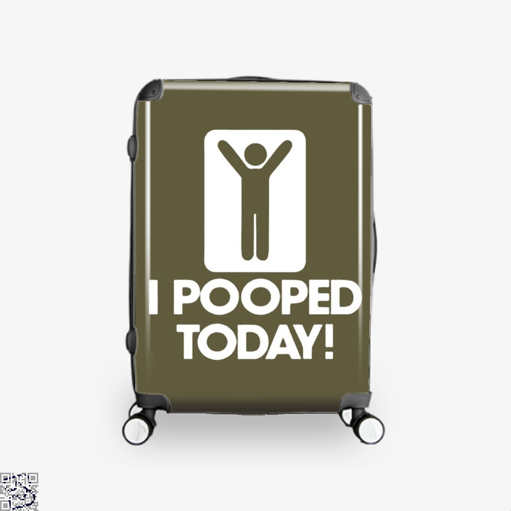 I Pooped Today! Hyperbolic Suitcase - Brown / 16 - Productgenjpg