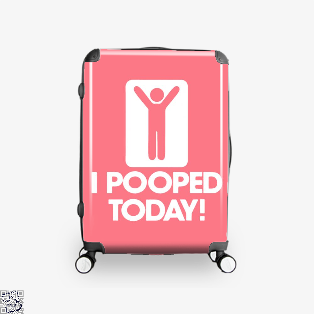 I Pooped Today! Hyperbolic Suitcase - Pink / 16 - Productgenjpg