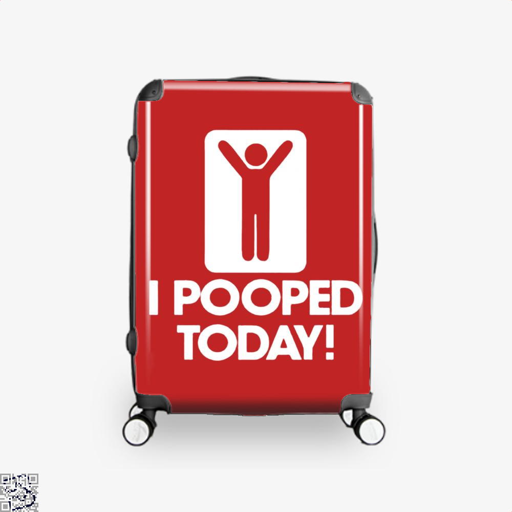 I Pooped Today! Hyperbolic Suitcase - Red / 16 - Productgenjpg