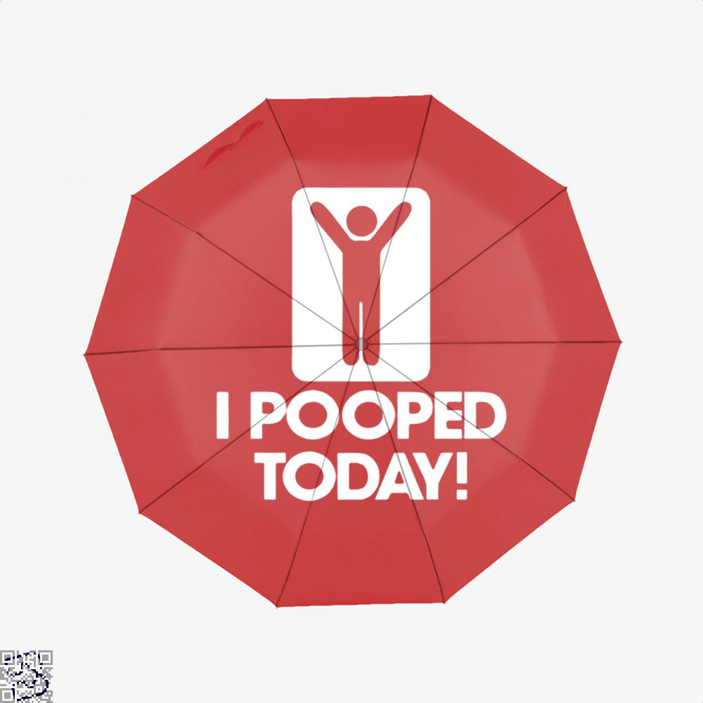 I Pooped Today! Hyperbolic Umbrella - Red - Productgenjpg