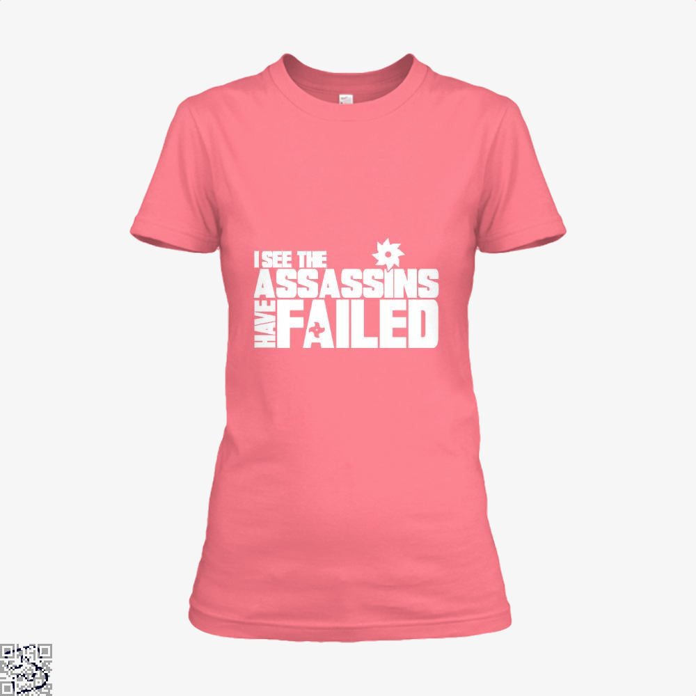 I See The Assassins Have Failed Creed Shirt - Women / Pink / X-Small - Productgenjpg