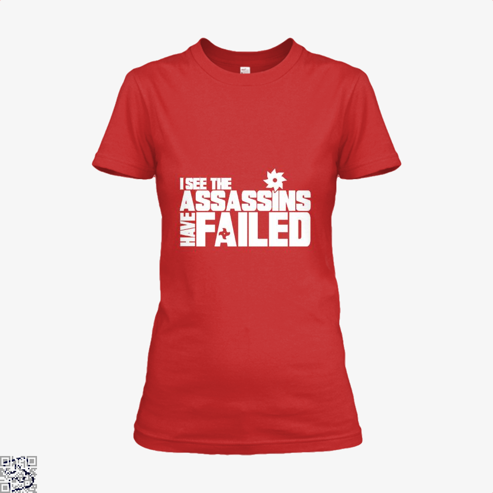 I See The Assassins Have Failed Creed Shirt - Women / Red / X-Small - Productgenjpg