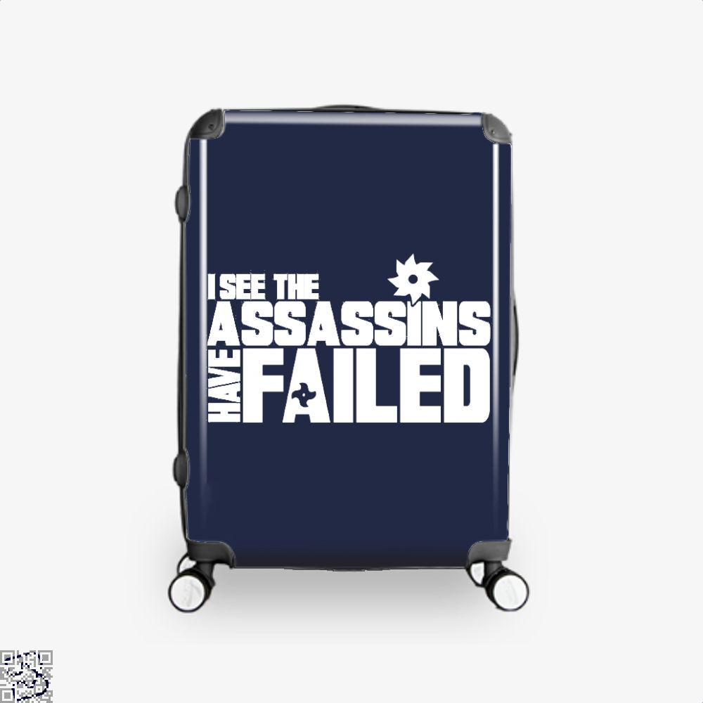I See The Assassins Have Failed Creed Suitcase - Blue / 16 - Productgenjpg