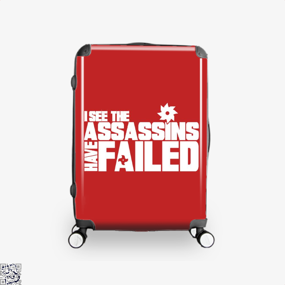 I See The Assassins Have Failed Creed Suitcase - Red / 16 - Productgenjpg