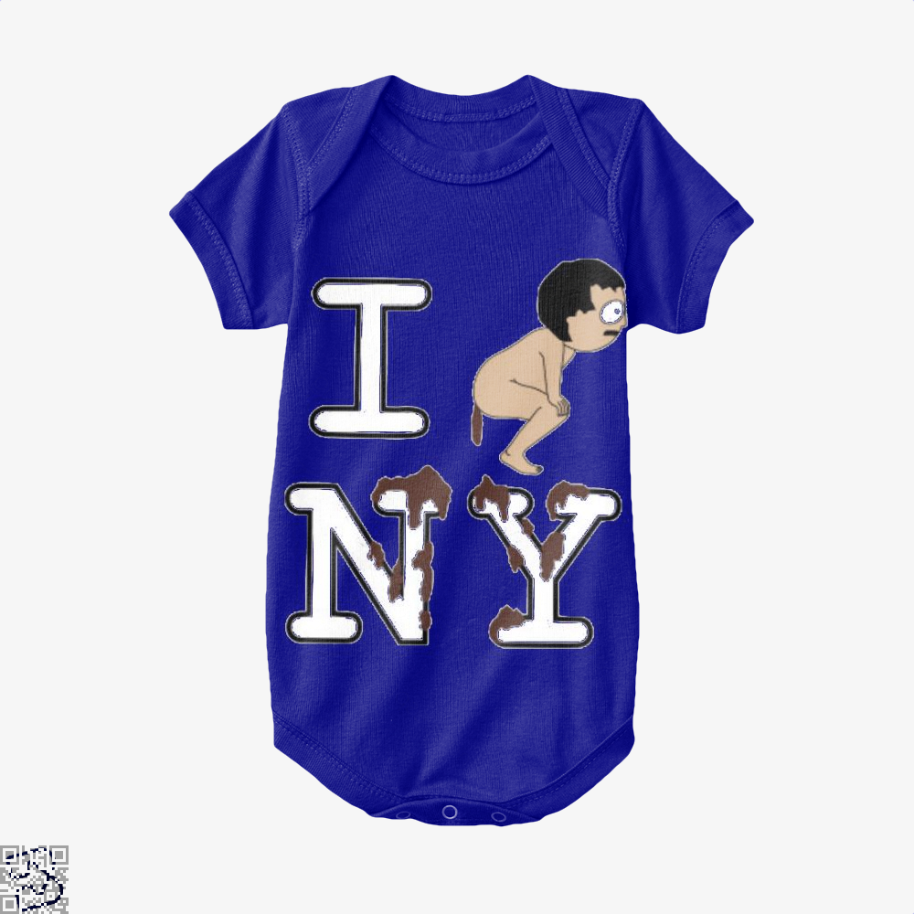 I Shit On Ny South Park Baby Onesie - Navy / 0-3 Months - Productgenapi