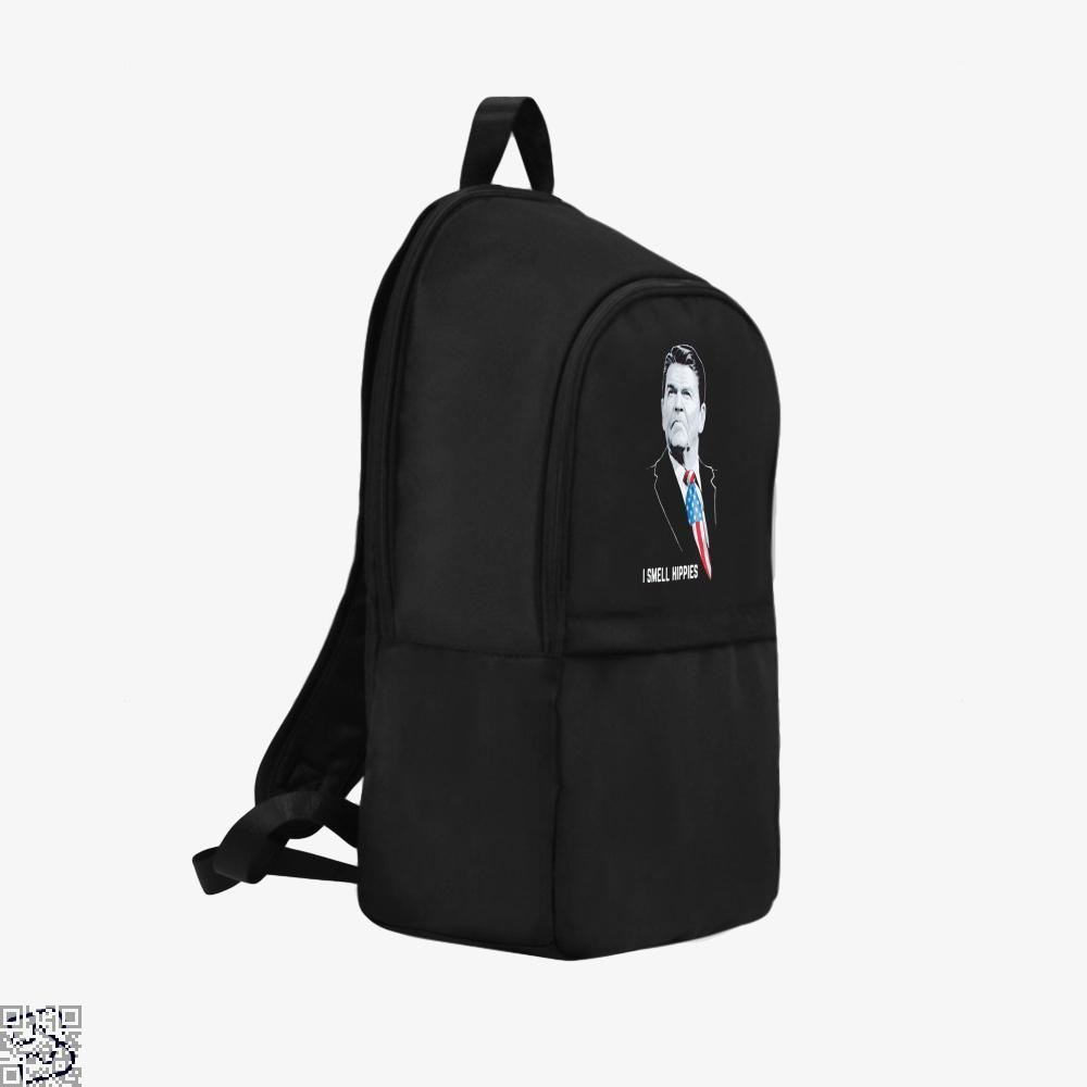I Smell Hippies Ronald Reagan Conservative Backpack - Productgenjpg