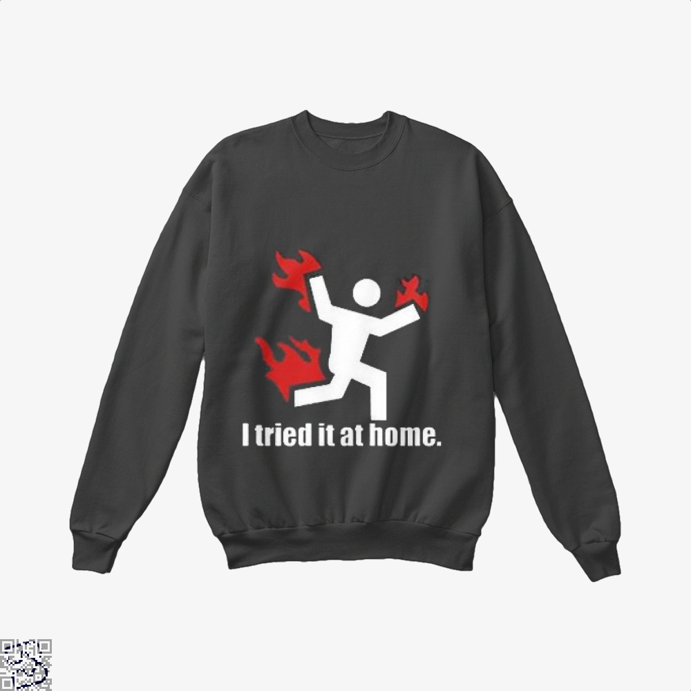 I Tried It At Home Hyperbolic Crew Neck Sweatshirt - Productgenjpg