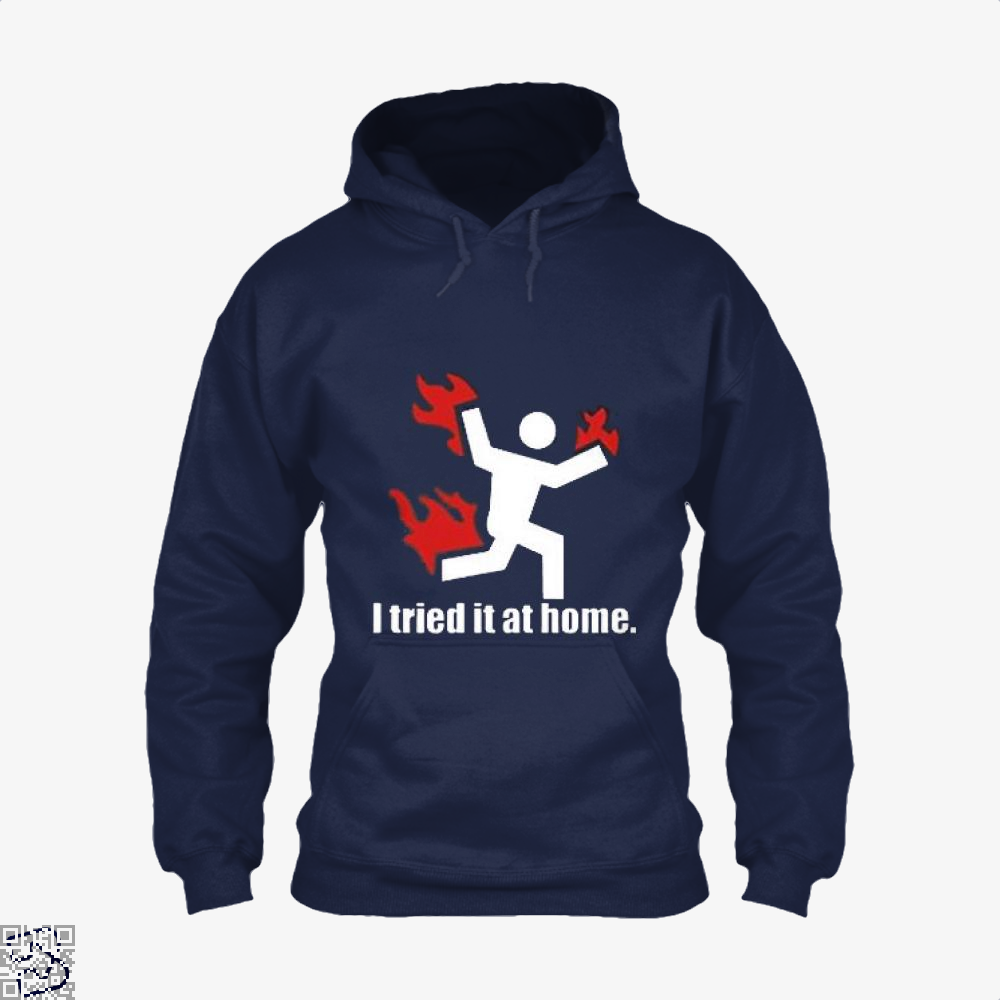 I Tried It At Home Hyperbolic Hoodie - Blue / X-Small - Productgenjpg