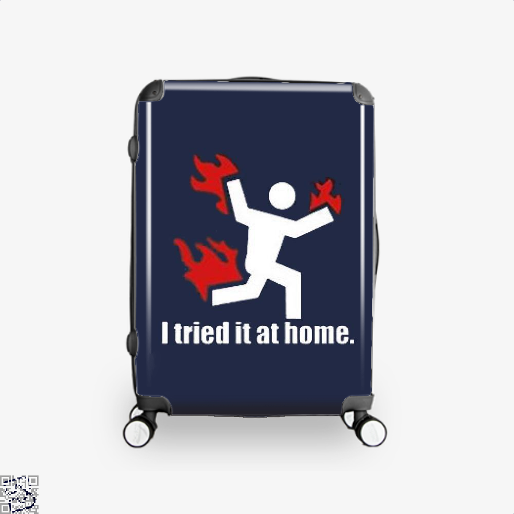 I Tried It At Home Hyperbolic Suitcase - Blue / 16 - Productgenjpg