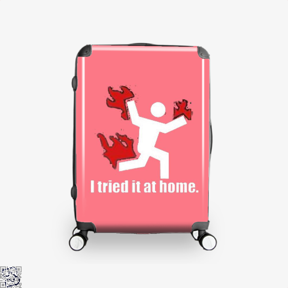 I Tried It At Home Hyperbolic Suitcase - Pink / 16 - Productgenjpg
