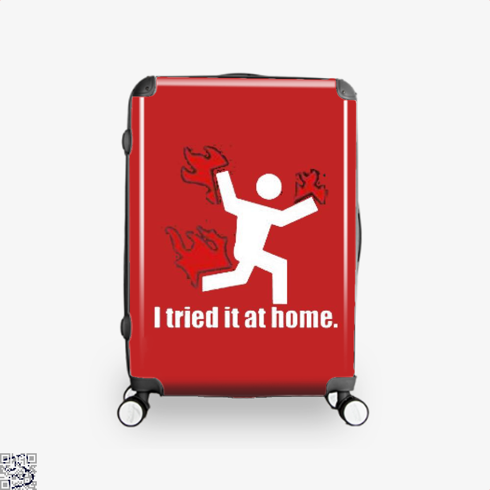 I Tried It At Home Hyperbolic Suitcase - Red / 16 - Productgenjpg