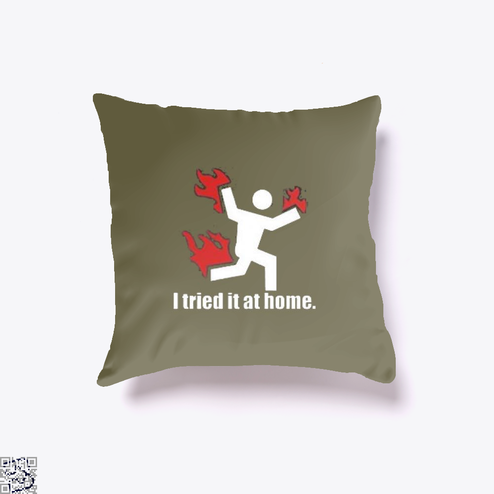 I Tried It At Home Hyperbolic Throw Pillow Cover - Brown / 16 X - Productgenjpg