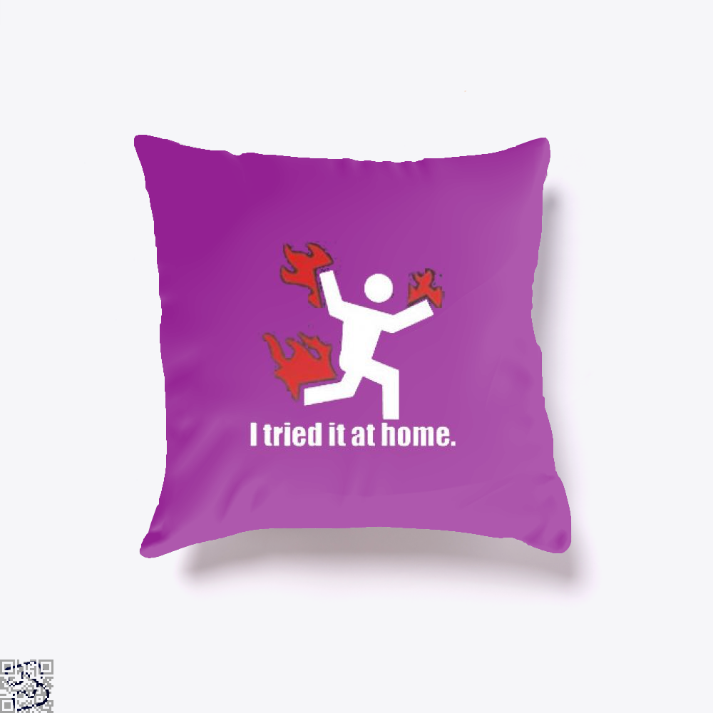 I Tried It At Home Hyperbolic Throw Pillow Cover - Productgenjpg