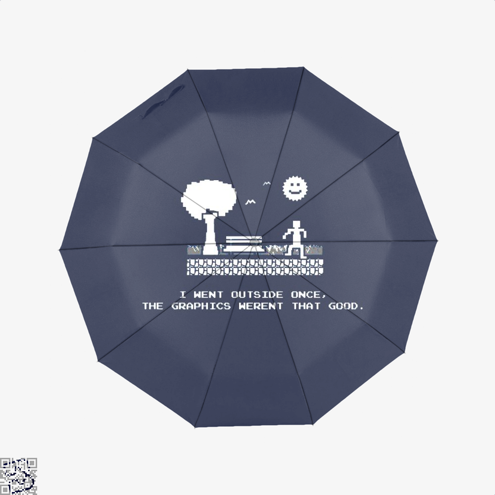 I Went Outside Once The Graphics Werent That Good Juvenile Umbrella - Productgenjpg