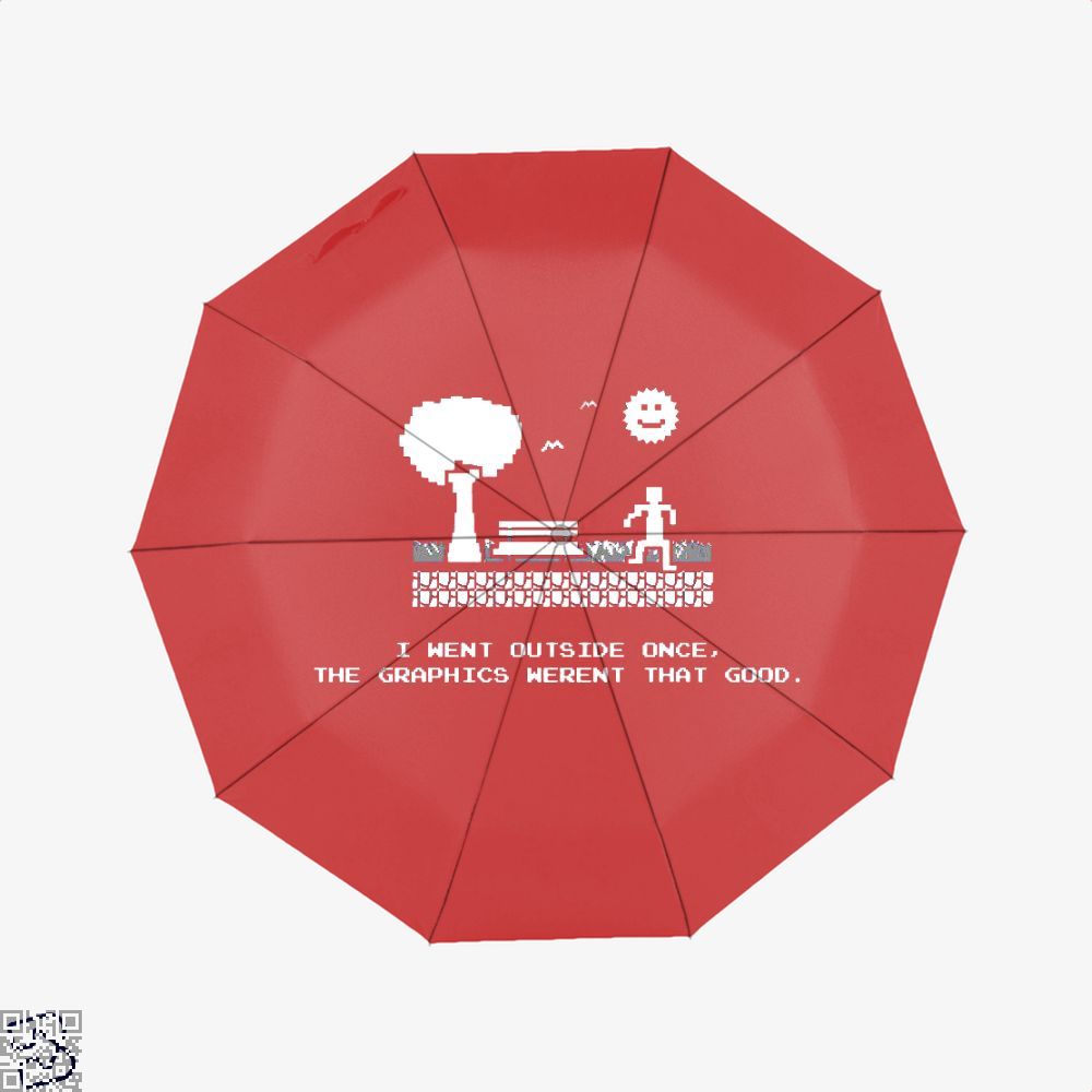 I Went Outside Once The Graphics Werent That Good Juvenile Umbrella - Red - Productgenjpg