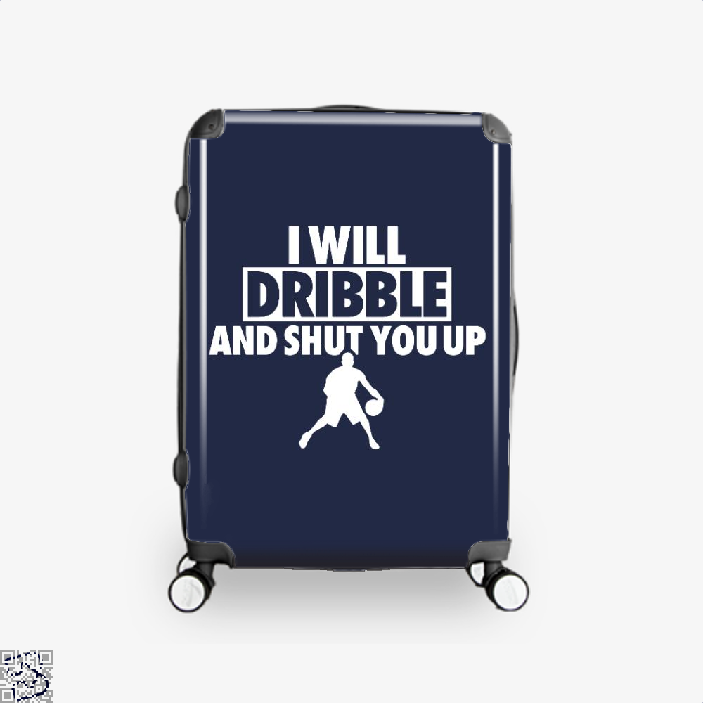 I Will Dribble And Shut You Up Cavs Suitcase - Blue / 16 - Productgenapi