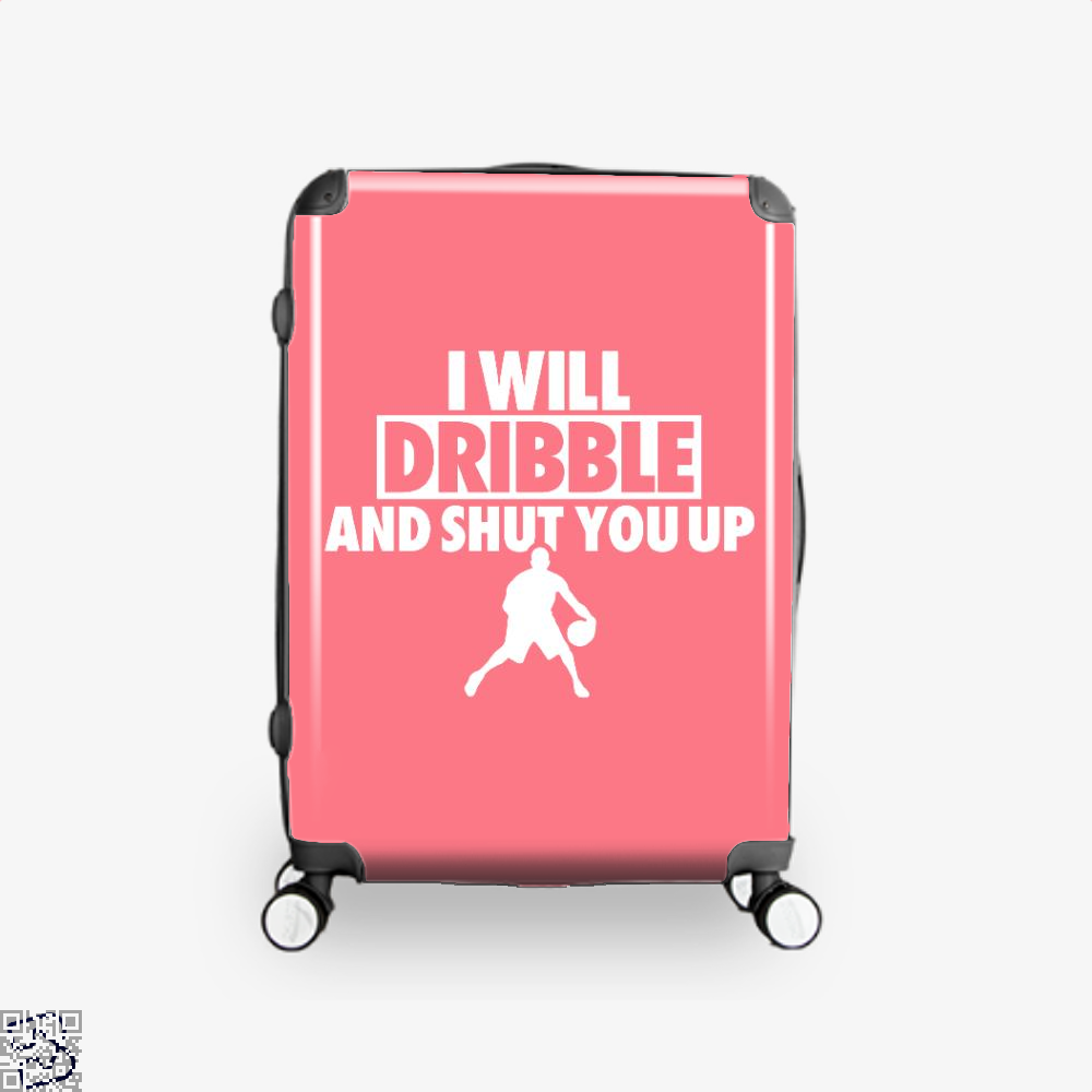 I Will Dribble And Shut You Up Cavs Suitcase - Pink / 16 - Productgenapi