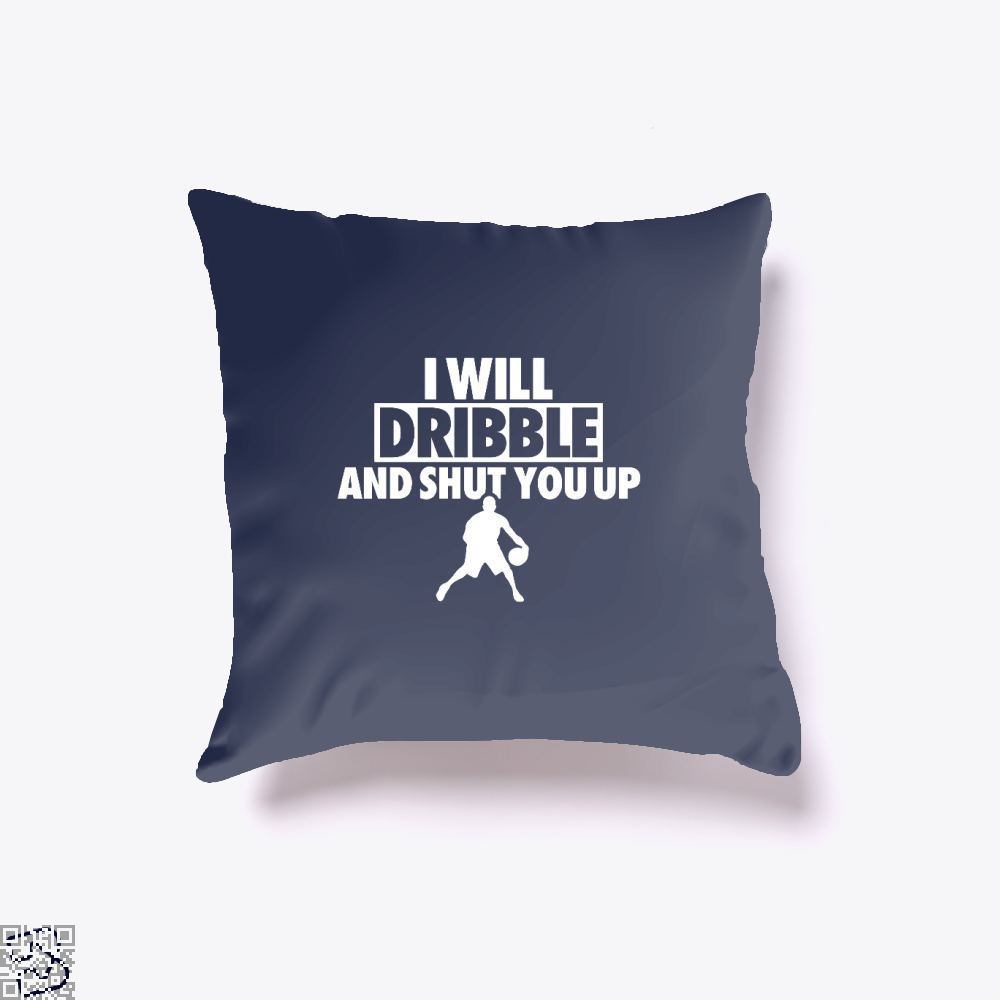 I Will Dribble And Shut You Up Cavs Throw Pillow Cover - Blue / 16 X - Productgenapi