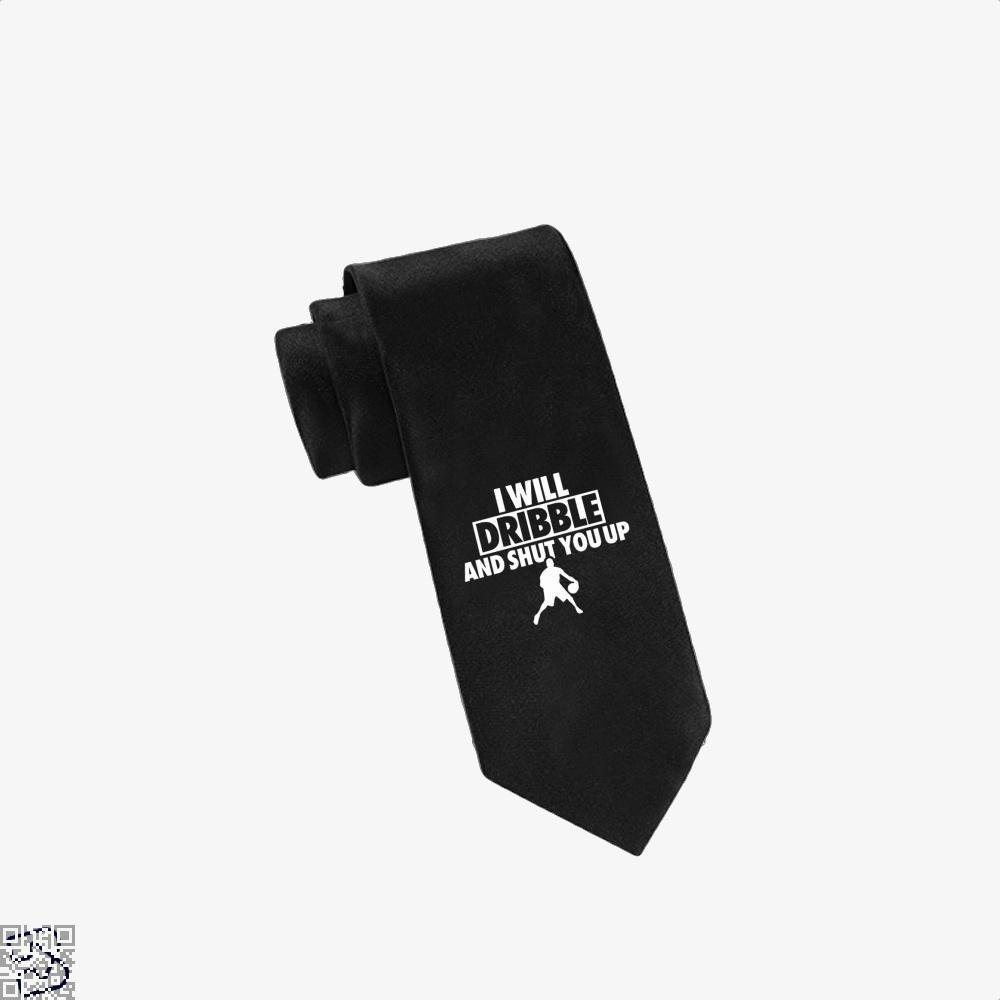 I Will Dribble And Shut You Up Cavs Tie - Black - Productgenapi