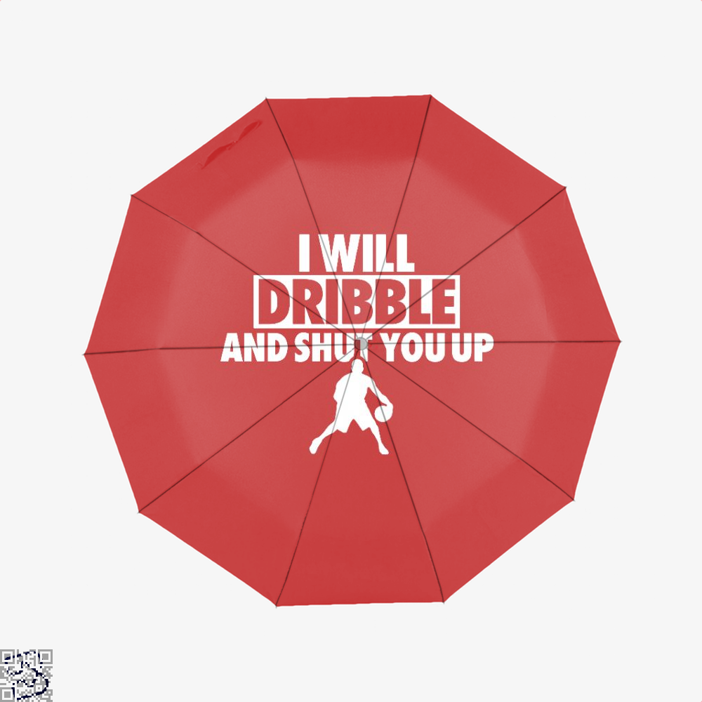 I Will Dribble And Shut You Up Cavs Umbrella - Red - Productgenapi
