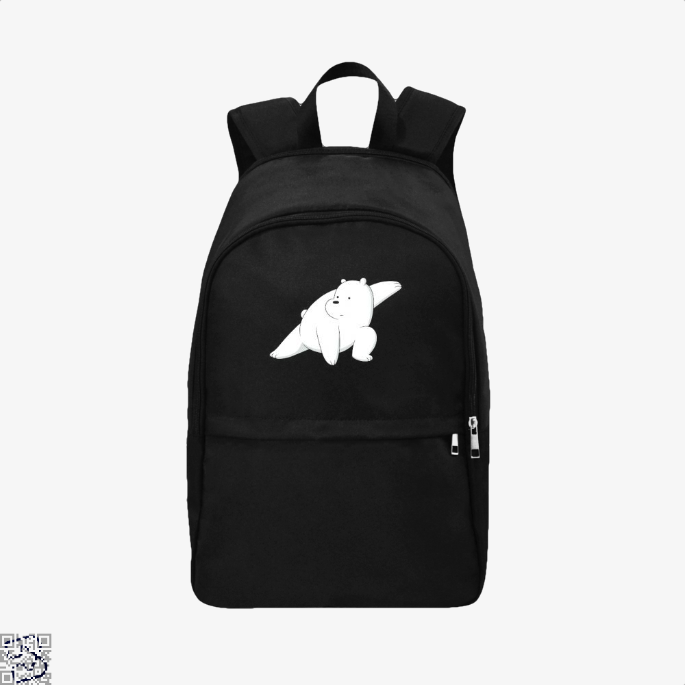 Ice Bear Fight We Bare Bears Backpack - Black / Adult - Productgenapi
