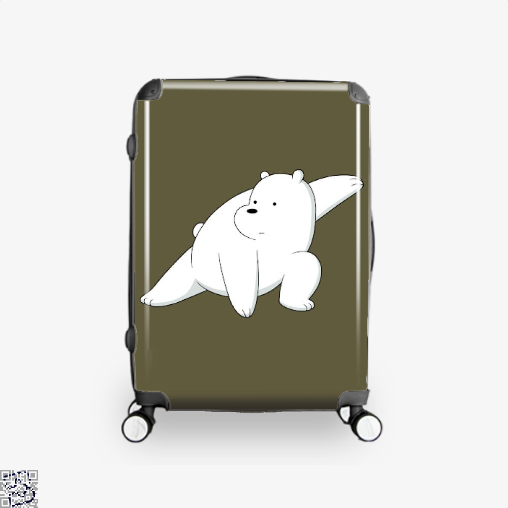 Ice Bear Fight We Bare Bears Suitcase - Brown / 16 - Productgenapi