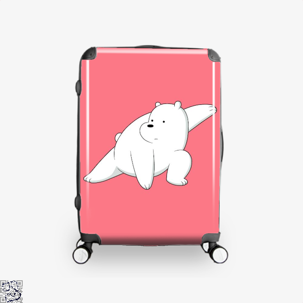 Ice Bear Fight We Bare Bears Suitcase - Pink / 16 - Productgenapi
