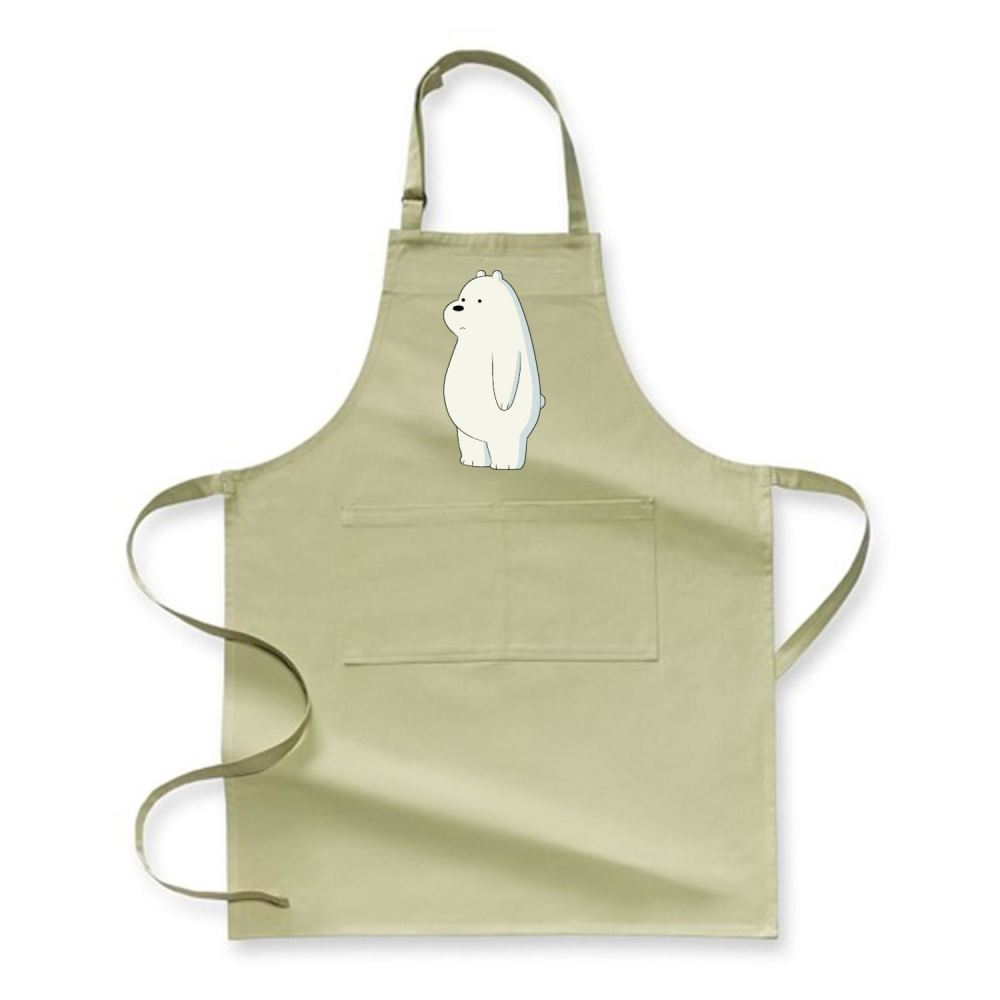 Ice Bear We Bare Bears Apron - Green / Polyester - Productgenapi
