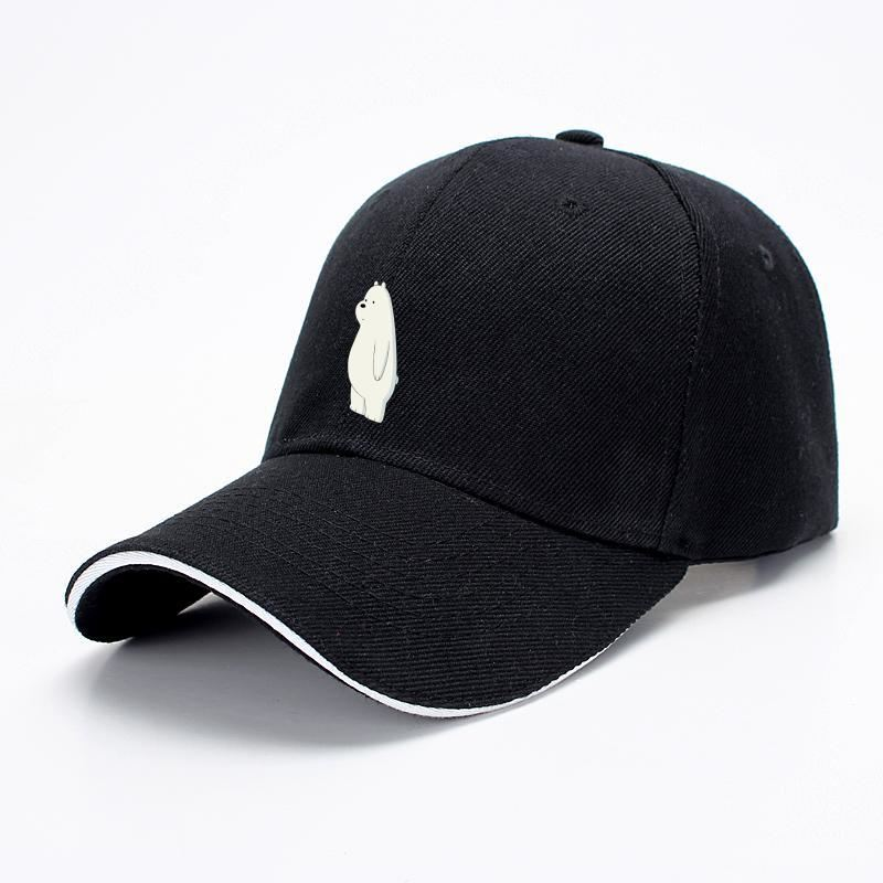 Ice Bear We Bare Bears Baseball Cap - Black - Productgenapi