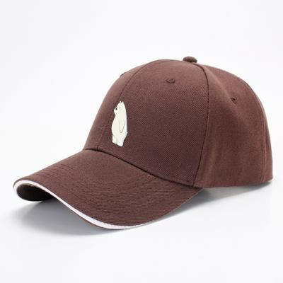 Ice Bear We Bare Bears Baseball Cap - Brown - Productgenapi