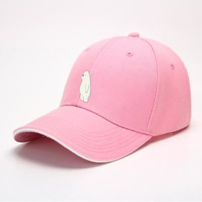 Ice Bear We Bare Bears Baseball Cap - Pink - Productgenapi