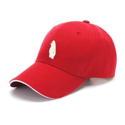 Ice Bear We Bare Bears Baseball Cap - Red - Productgenapi